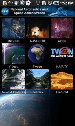 NASA for Android (Homescreen)