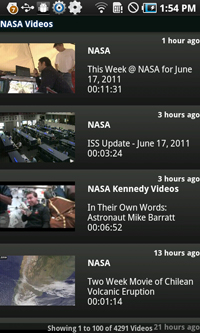 NASA for Android (Videos)