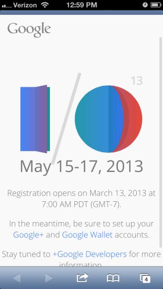 Google I/O Screenie 1