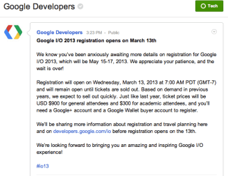 Google Developers Google +