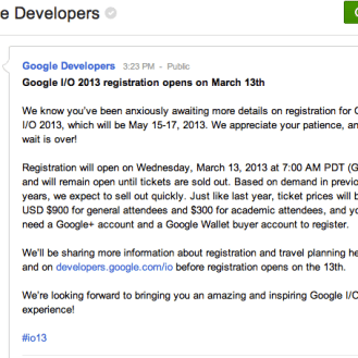Google Developers Google +