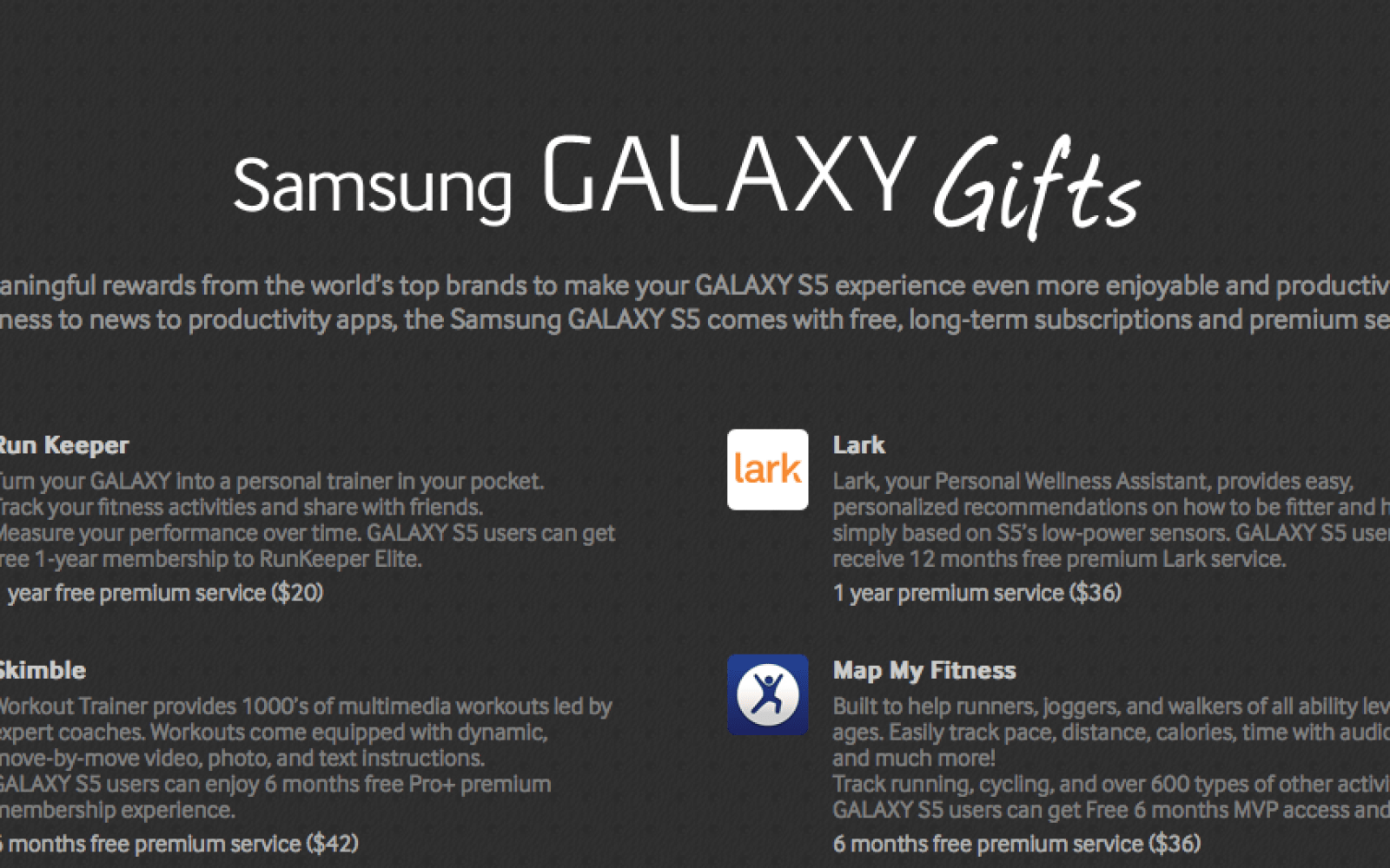 """Samsung Galaxy S5 to come with suite of """"Galaxy Gifts"""" worth more than $500"""
