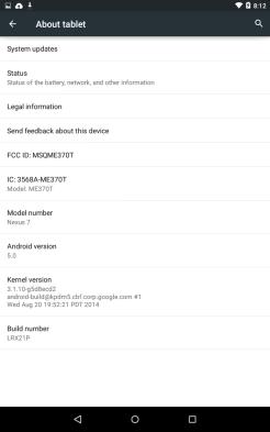 Nexus 7 Android Lollipop 2