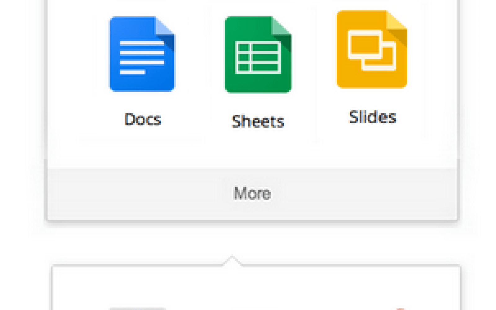 google adds docs sheets slides shortcuts to app launcher