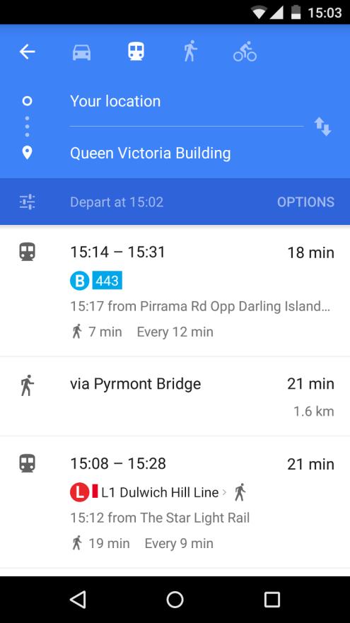 Google Maps Transit APIs