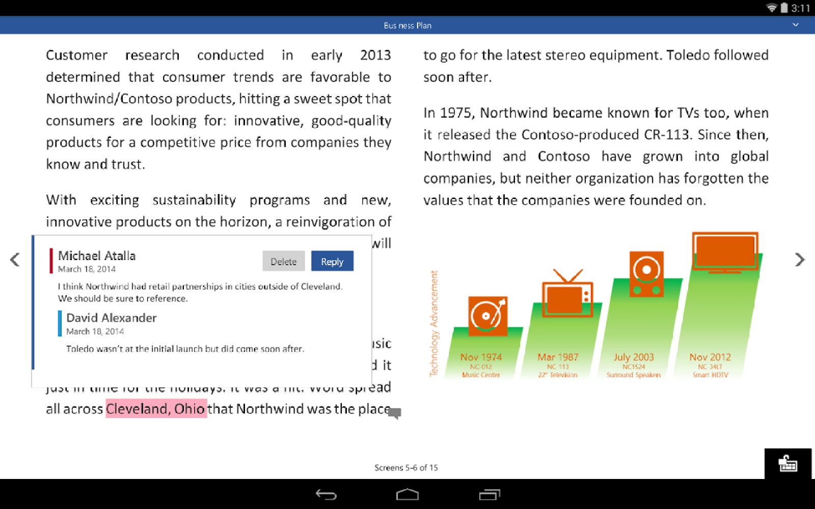 Preview versions of Microsoft Office apps for Android tablets now available on Google Play