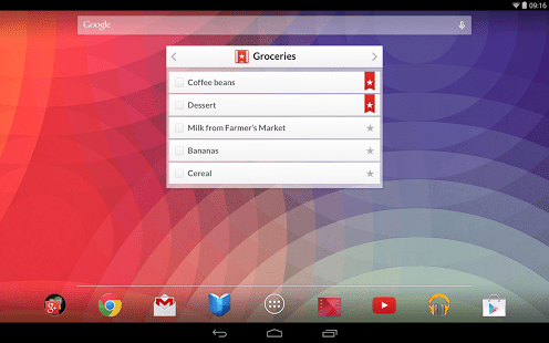Wunderlist Android 3