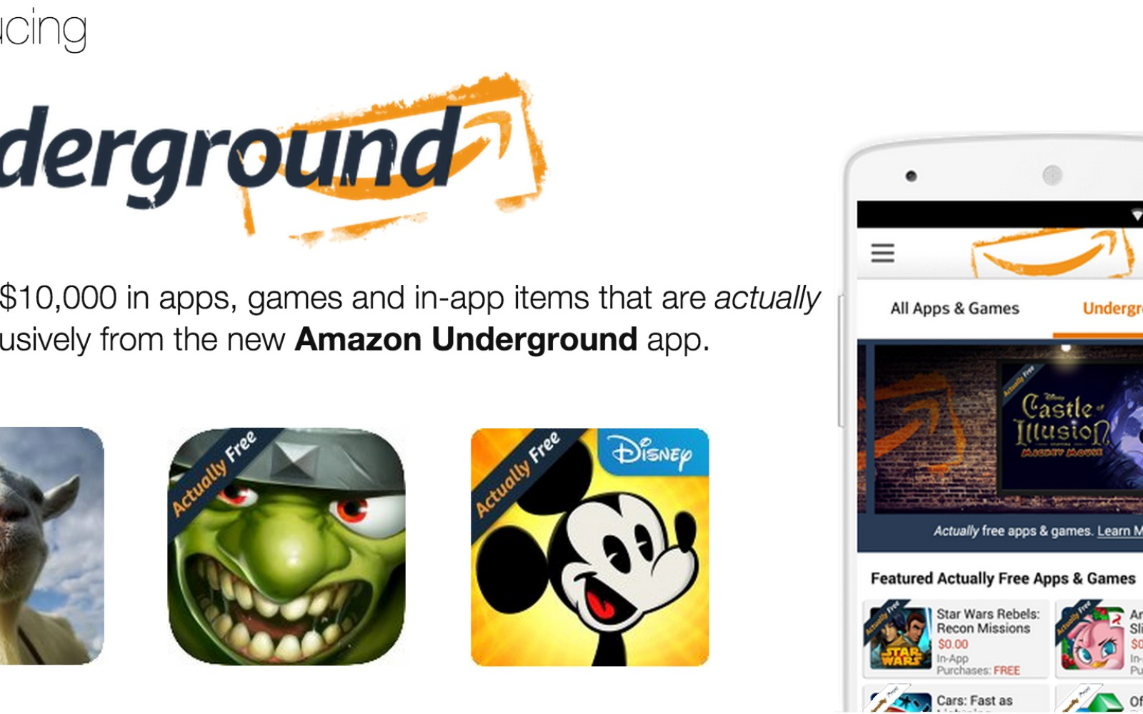 Amazon's new Underground app for Android delivers over $10,000 worth of free apps and games