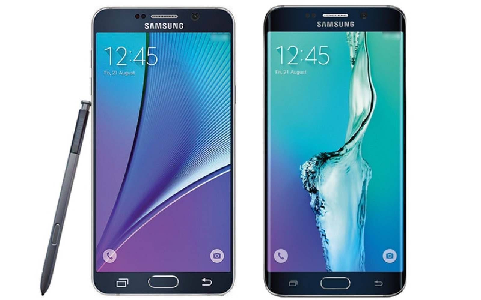 Press renders of Galaxy Note 5 and Galaxy S6 Edge+ leaked