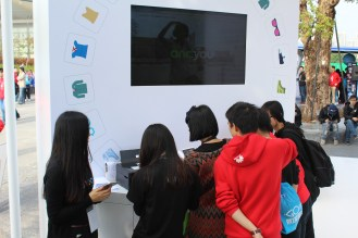 Chinese locals were absolutely fascinated by the Androidify app at Google's booth