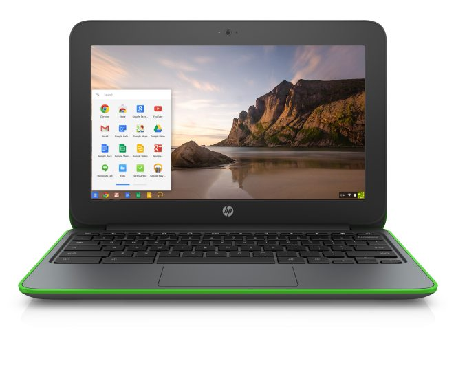 HP Chromebook 11 G4 EE_electric green_front