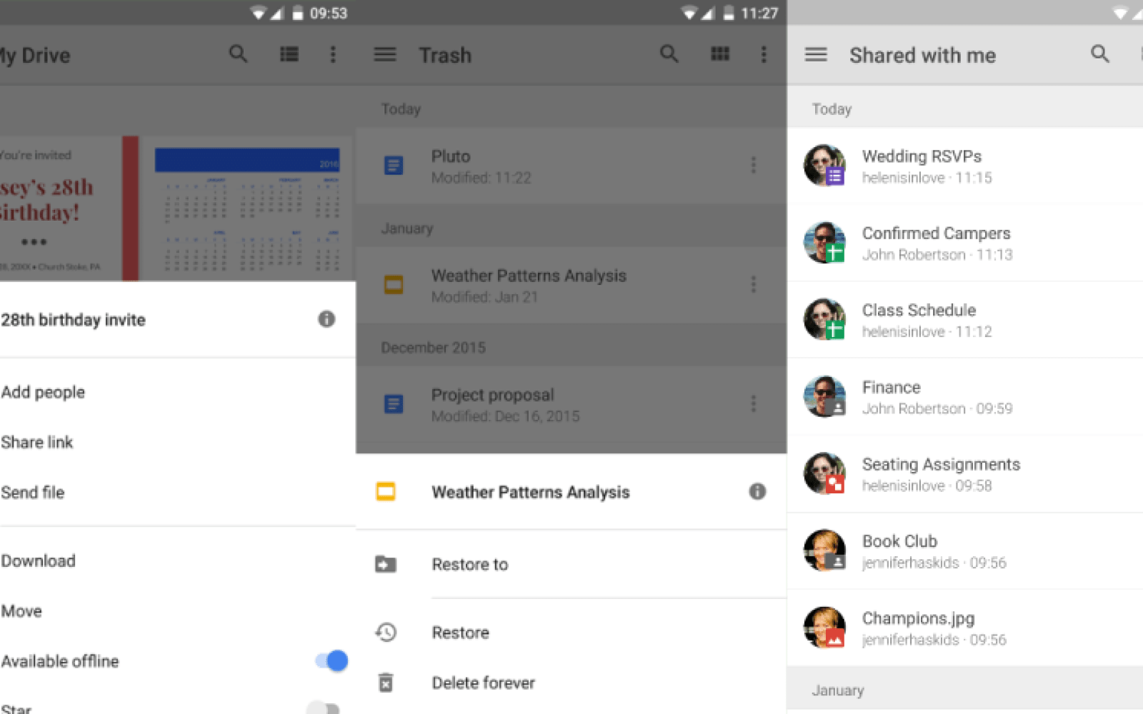 Google Drive gets a simplified file menu and the ability to see trash on mobile