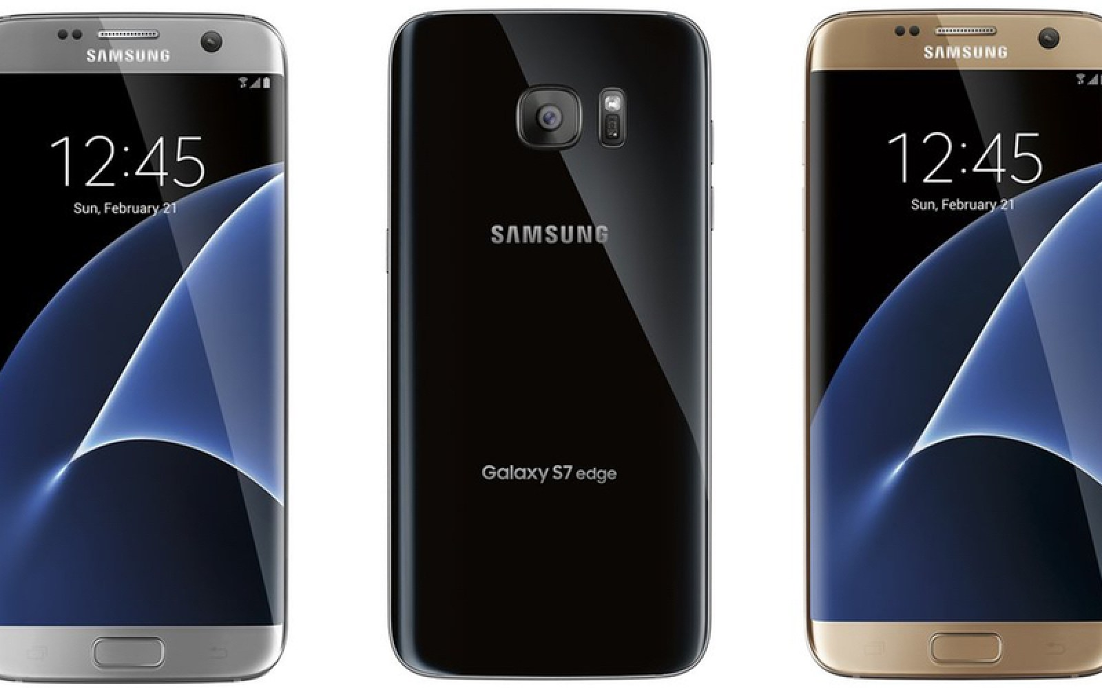 Latest Galaxy S7 and S7 Edge press render leak shows off classy black, gray and gold together
