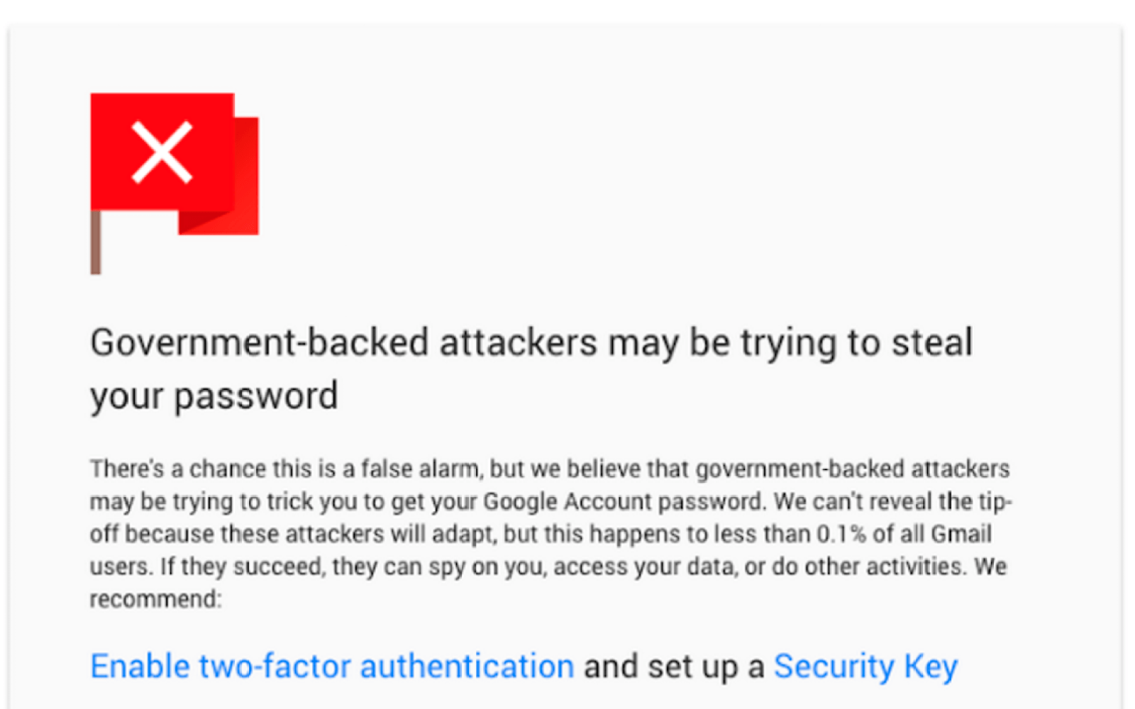 Gmail adds Safe Browsing warnings for nefarious links, state