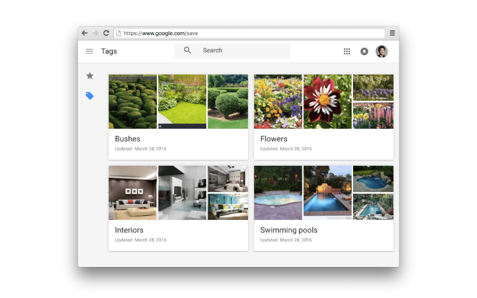 Pinterest-like image saving and tagging feature added to Google Search on the web