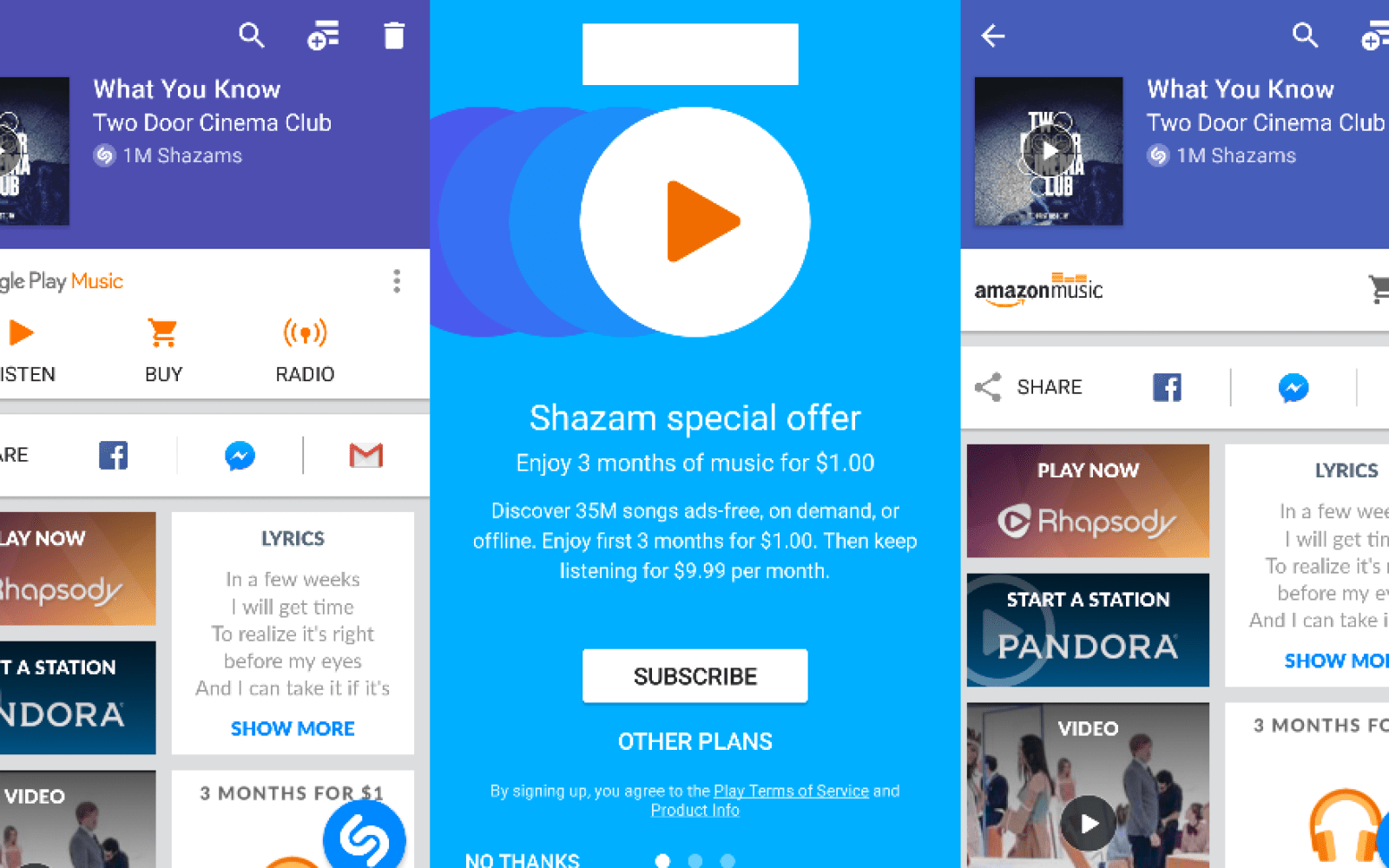 Shazam gains deeper integration with Google Play Music