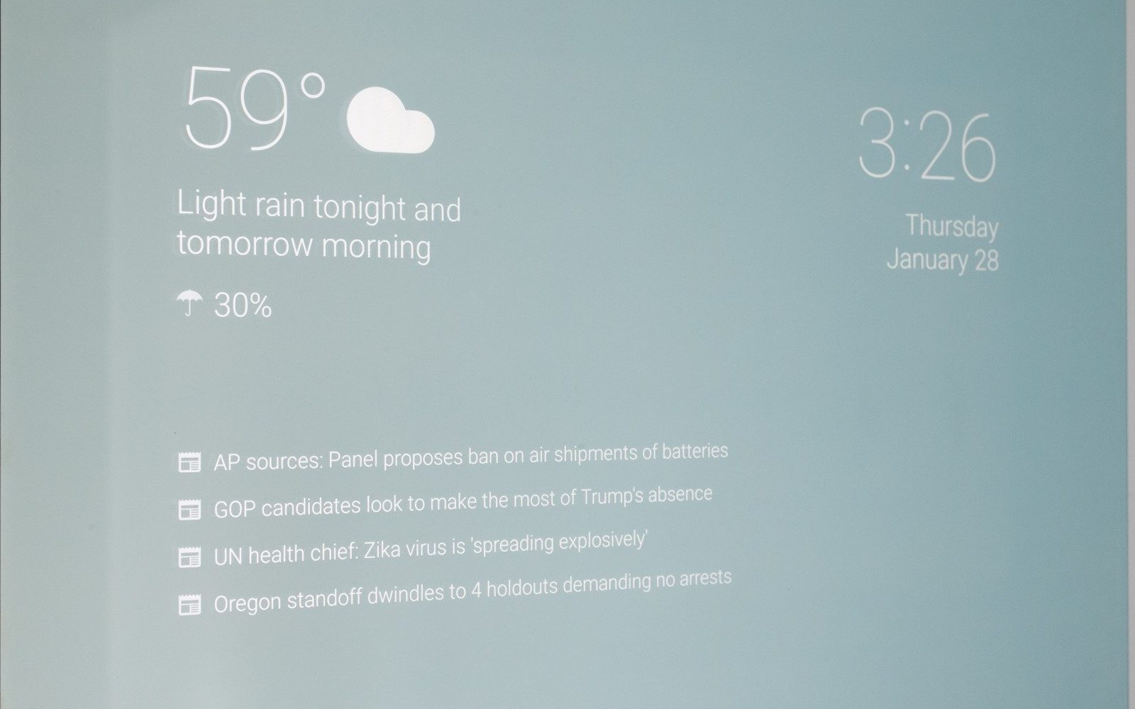 You can now make your own Android-powered smart mirror