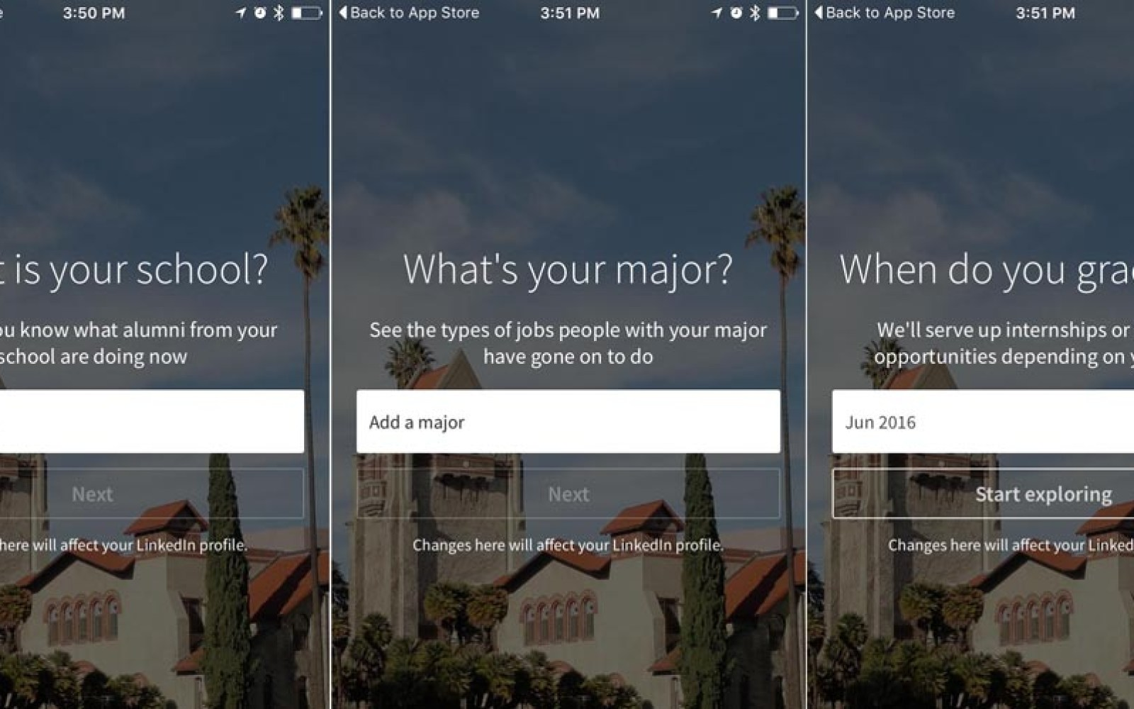 LinkedIn today launching Tinder-style swiping Android app to help U.S. students find jobs