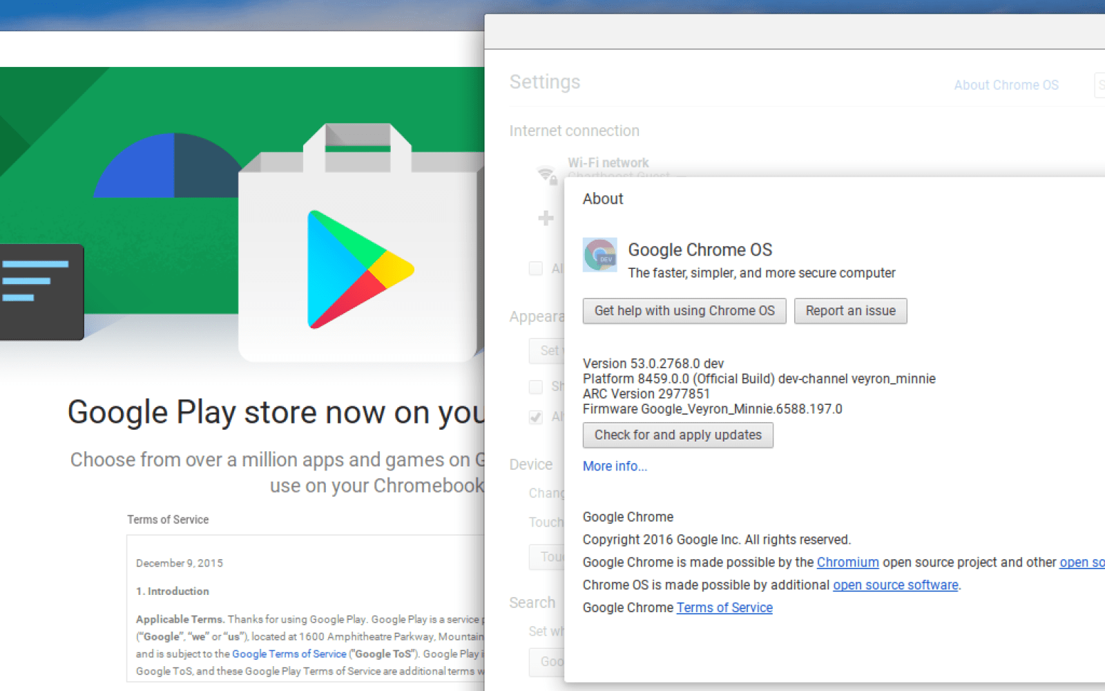 Android apps arrive on Chromebooks with Chrome OS Dev 53