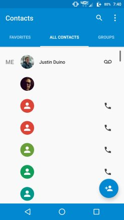 Google Contact 1.5 Old UI