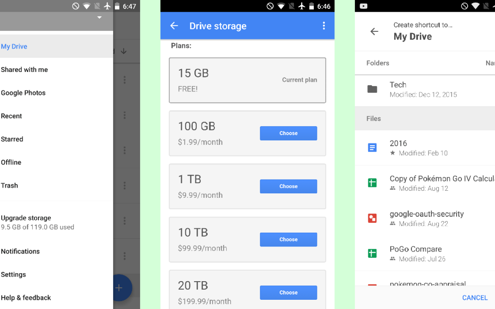 Google Drive update allows you to add file & folder shortcuts to the homescreen
