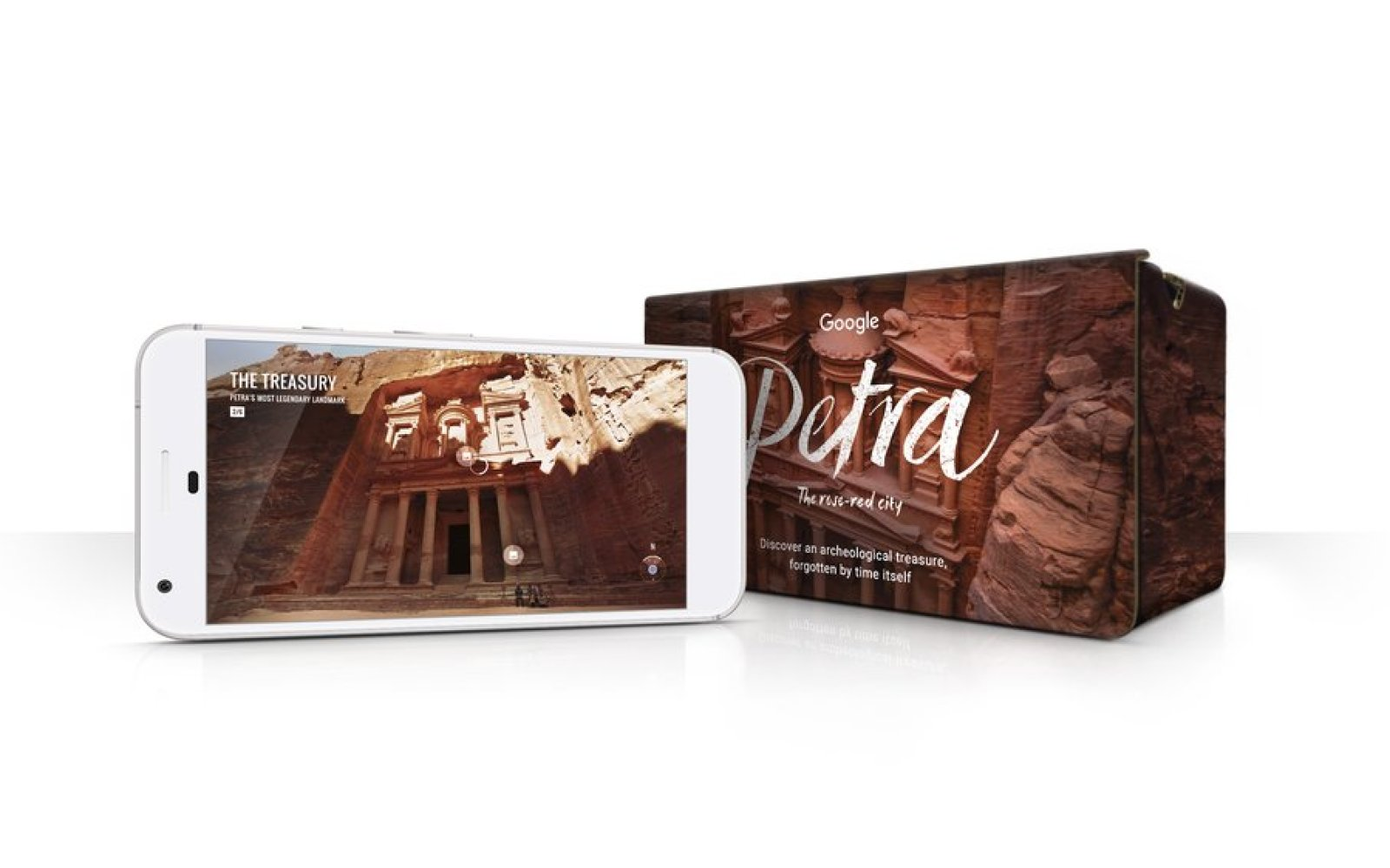 You can now explore the wonders of the ancient city of Petra with Google Cardboard