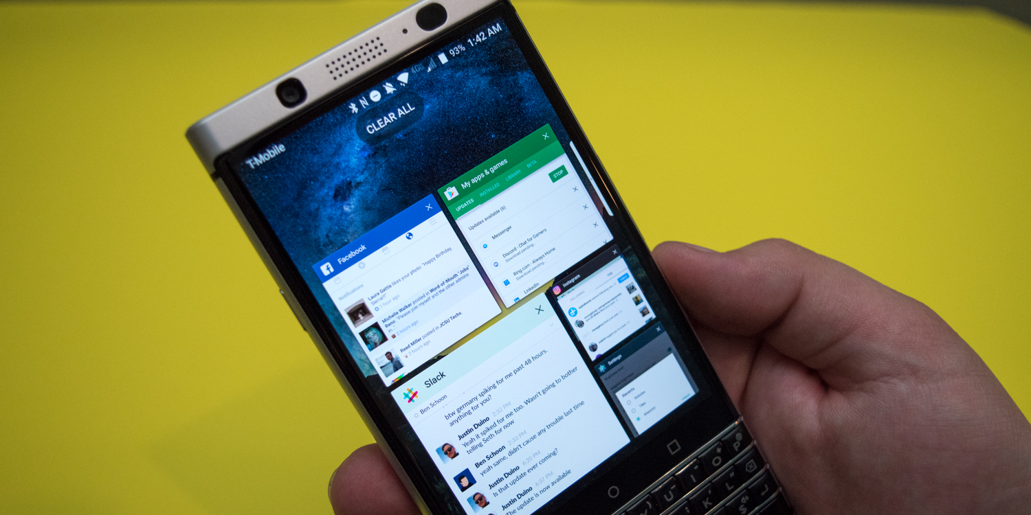 How to change the BlackBerry Keyone's recent apps screen
