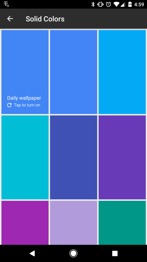 Google Wallpapers Screenshot