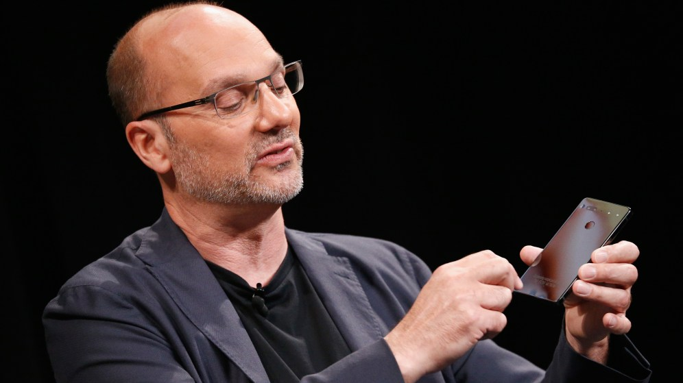 Andy Rubin and the Essential PH-1 onstage at Wired Business Conference 2017
