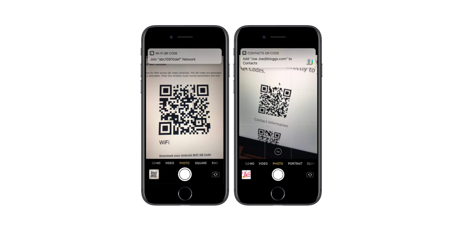 where is the qr reader on iphone