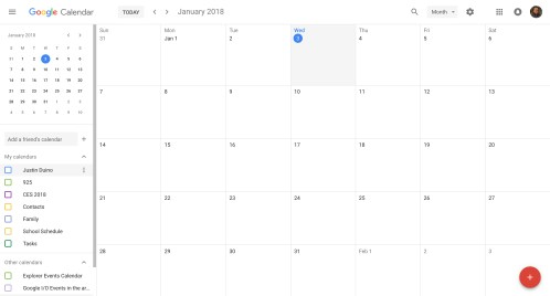 New Google Calendar Design