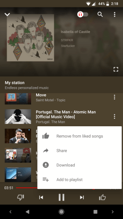 YouTube Music 2 17 preps Play Music-like location-based playlists