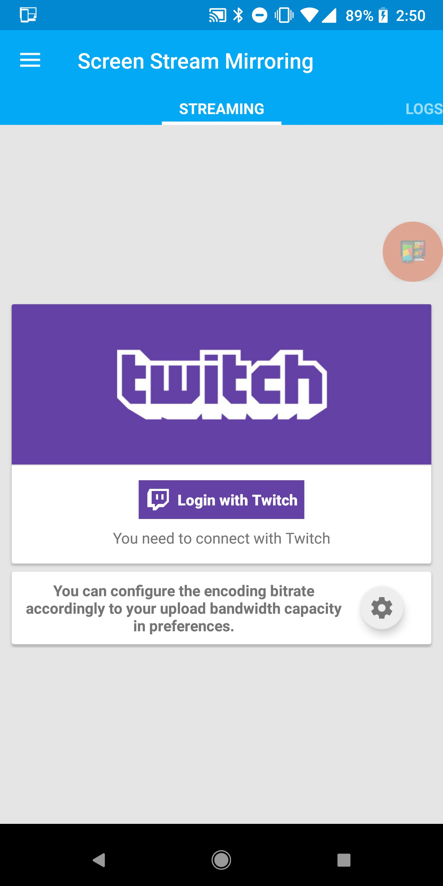 How to stream directly to Twitch live from your Android phone
