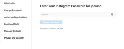 Download Instagram Data