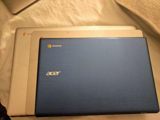Chromebook stack