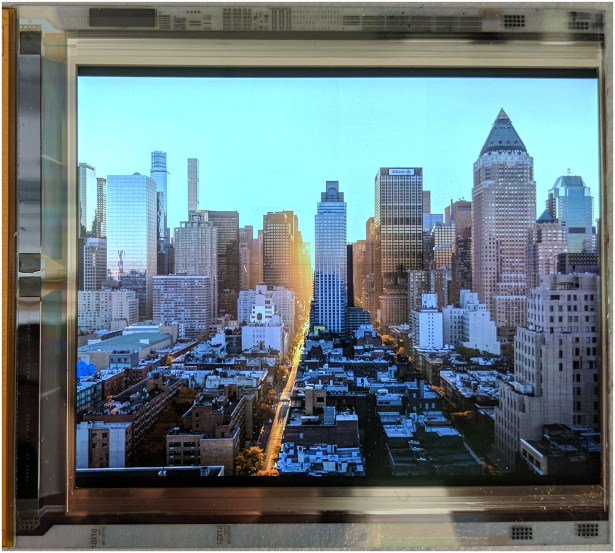 The 4.3″ OLED panel