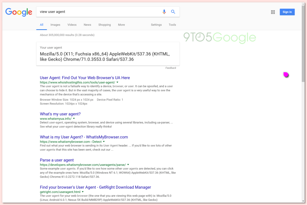 For all intents and purposes, websites believe this is a development build of Chrome 71