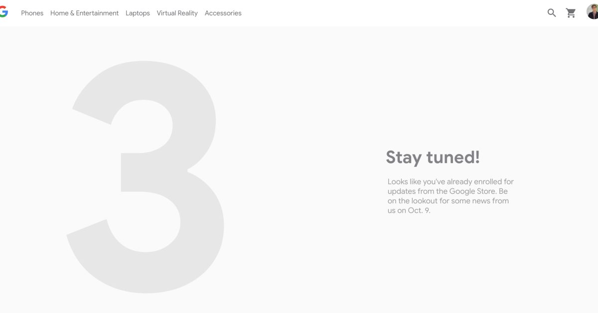 Google Pixel 3 teaser page shows up on the Google Store - 9to5Google