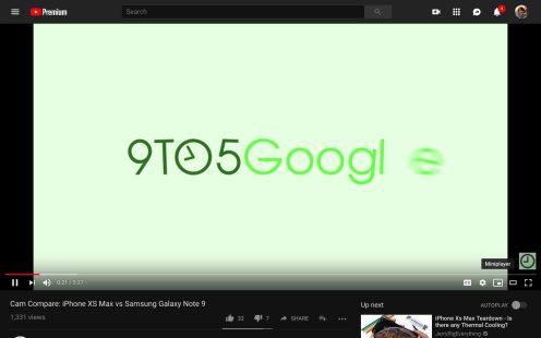 YouTube Miniplayer