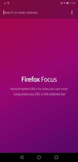 Firefox Focus Home