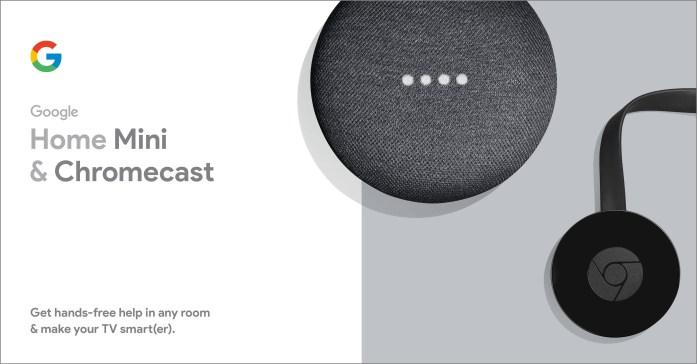 Chromecast Google Home Mini bundle
