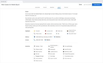 Google Hotel Search Desktop mendapat Google Material Theme