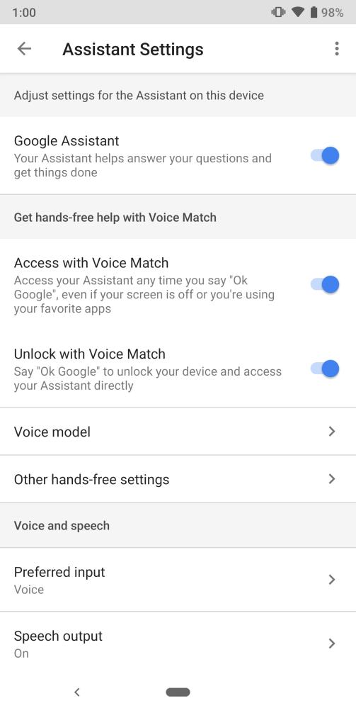 pixel 3 voice unlock pixel 2 settings