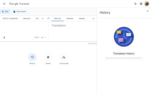 Google Translate on the web updated with Material Theme
