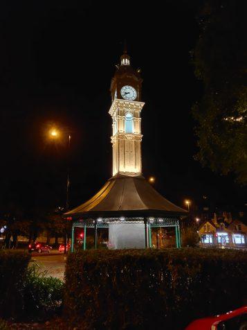 Roundhay clock - Nightscape