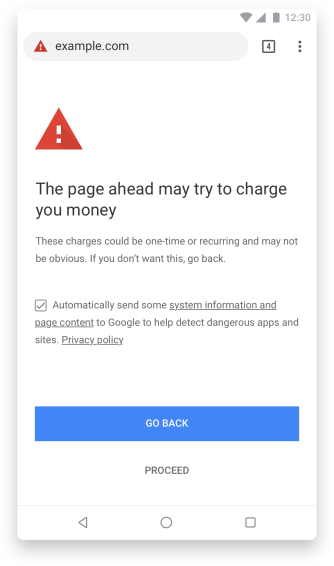 Chrome 71 Accidental Charges