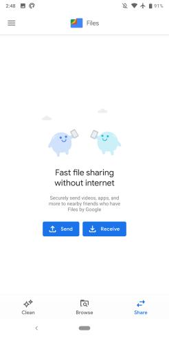 'Files' didesain ulang dengan Google Material Theme, Membuang branding 'Go'