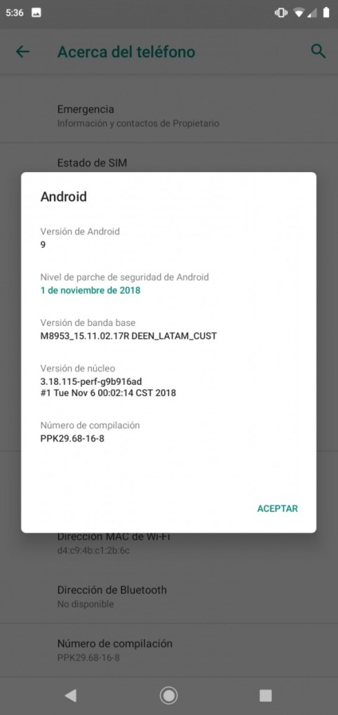 Motorola One Power Android Pie Update
