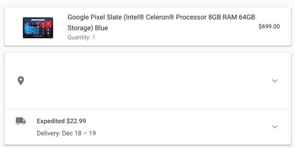 Pixel Slate shipping