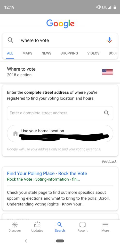 So finden Sie Ihren Abstimmungsort mit Google